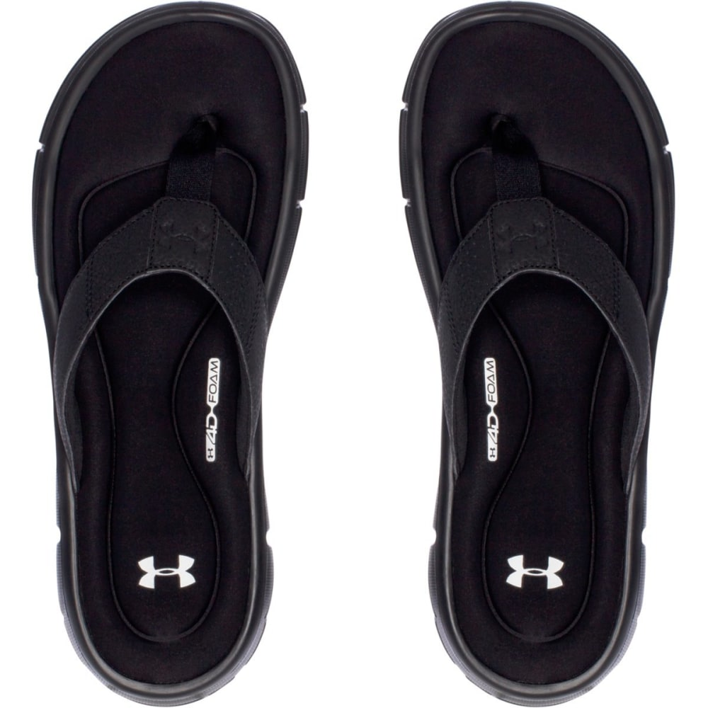 UNDER ARMOUR Men's UA Ignite II Sandals, Black - BLACK