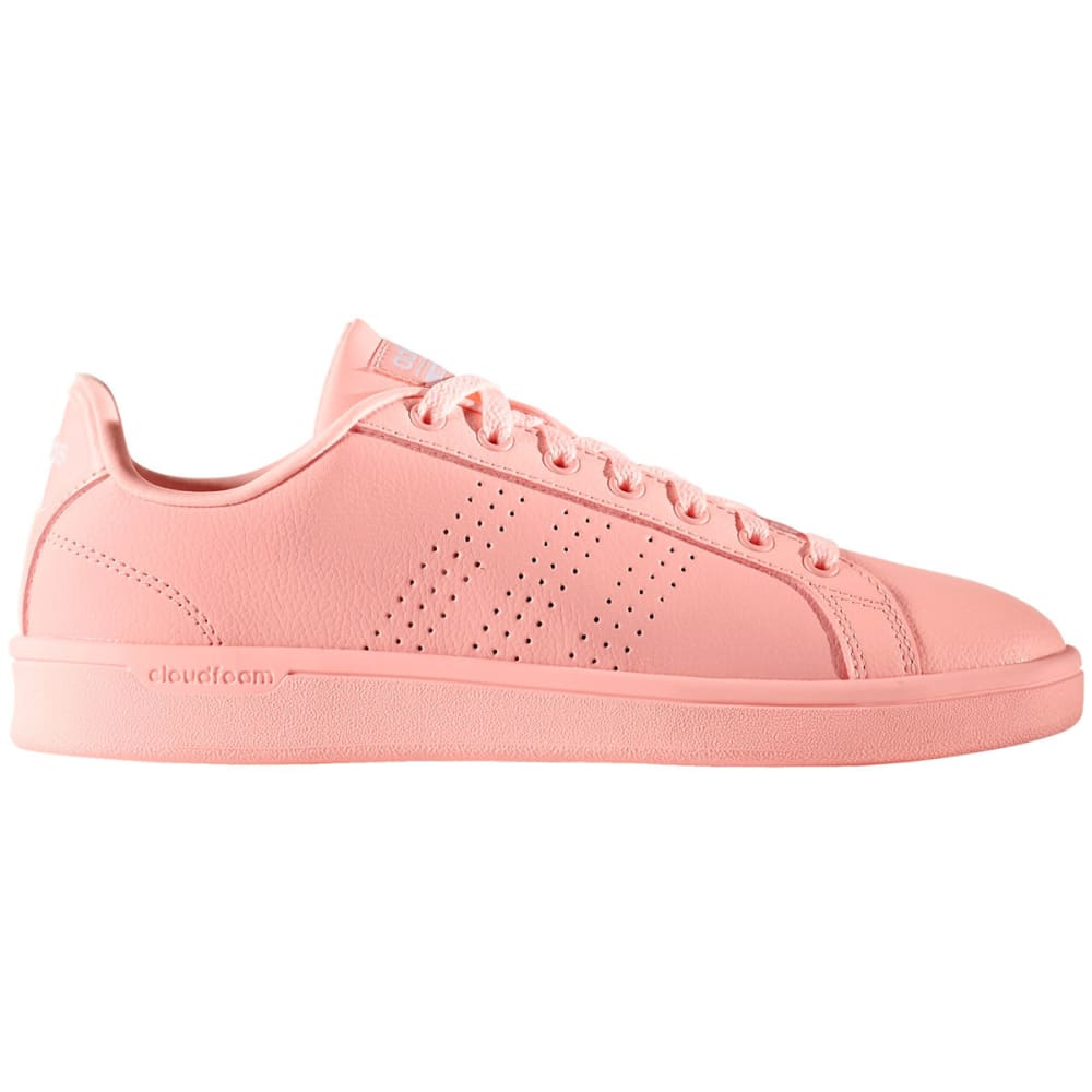 ADIDAS Women's Cloudfoam Advantage Clean Shoes, Coral - PEACH