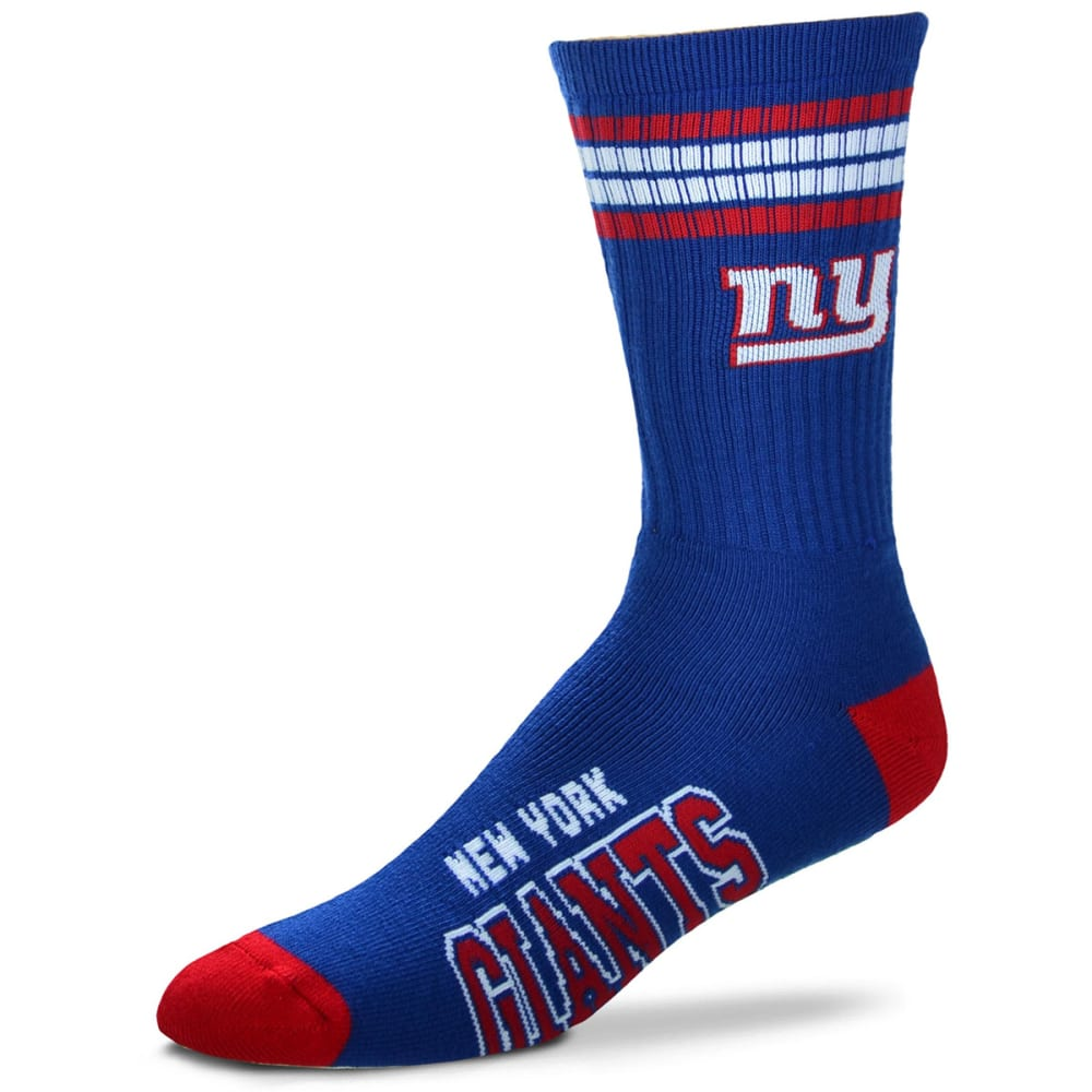 NEW YORK GIANTS 4-Stripe Deuce Crew Socks - ROYAL BLUE