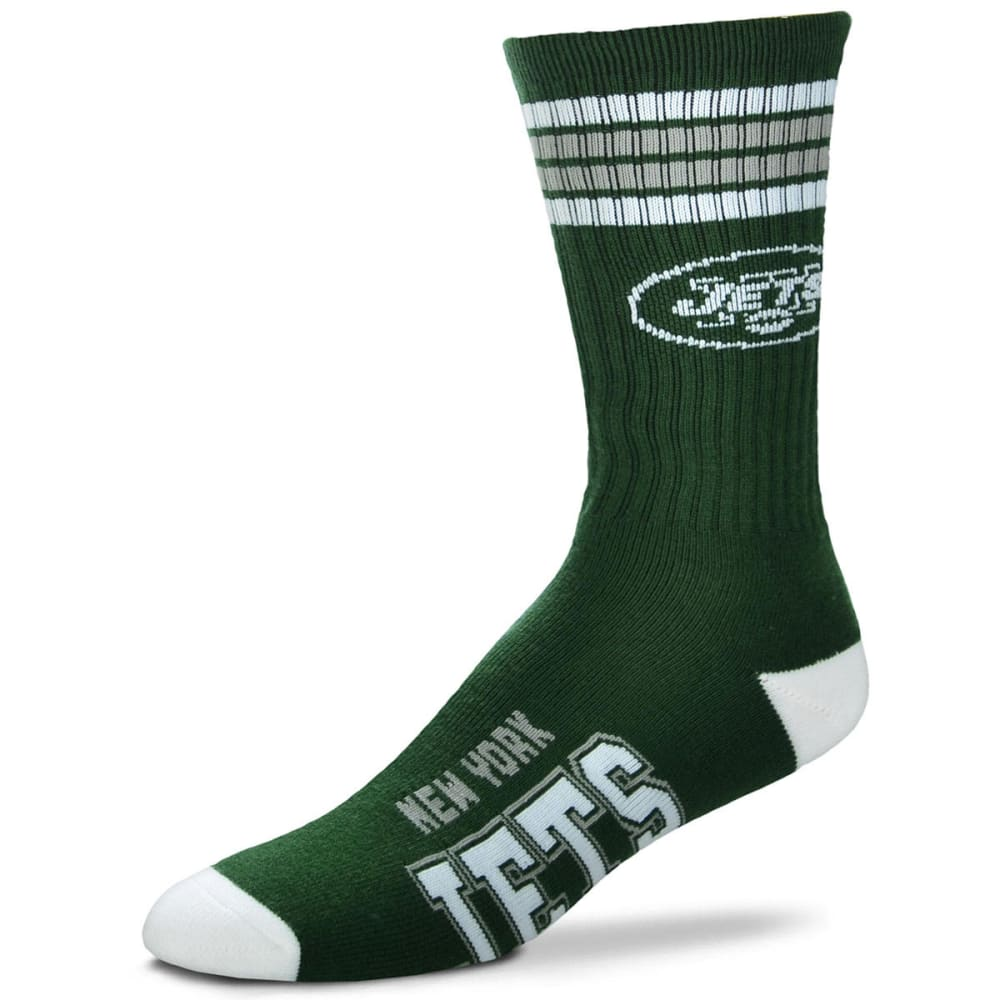NEW YORK JETS 4-Stripe Deuce Crew Socks L