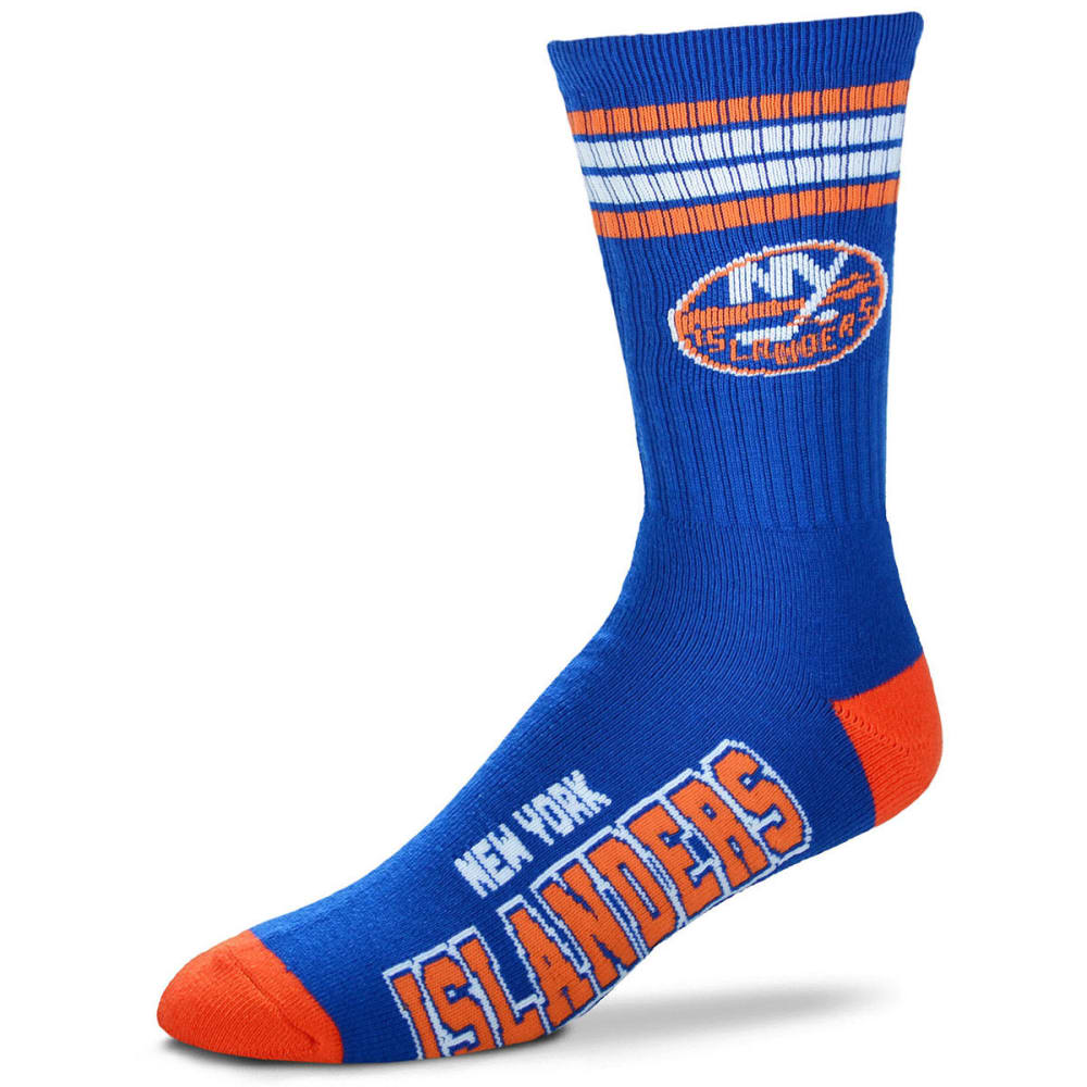NEW YORK ISLANDERS Men's 4 Stripe Deuce Socks - BLUE