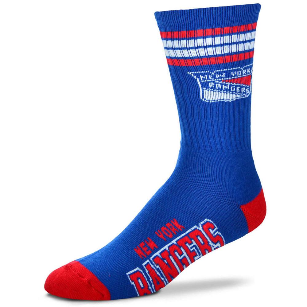 NEW YORK RANGERS Men's 4 Strip Deuce Socks - ROYAL BLUE