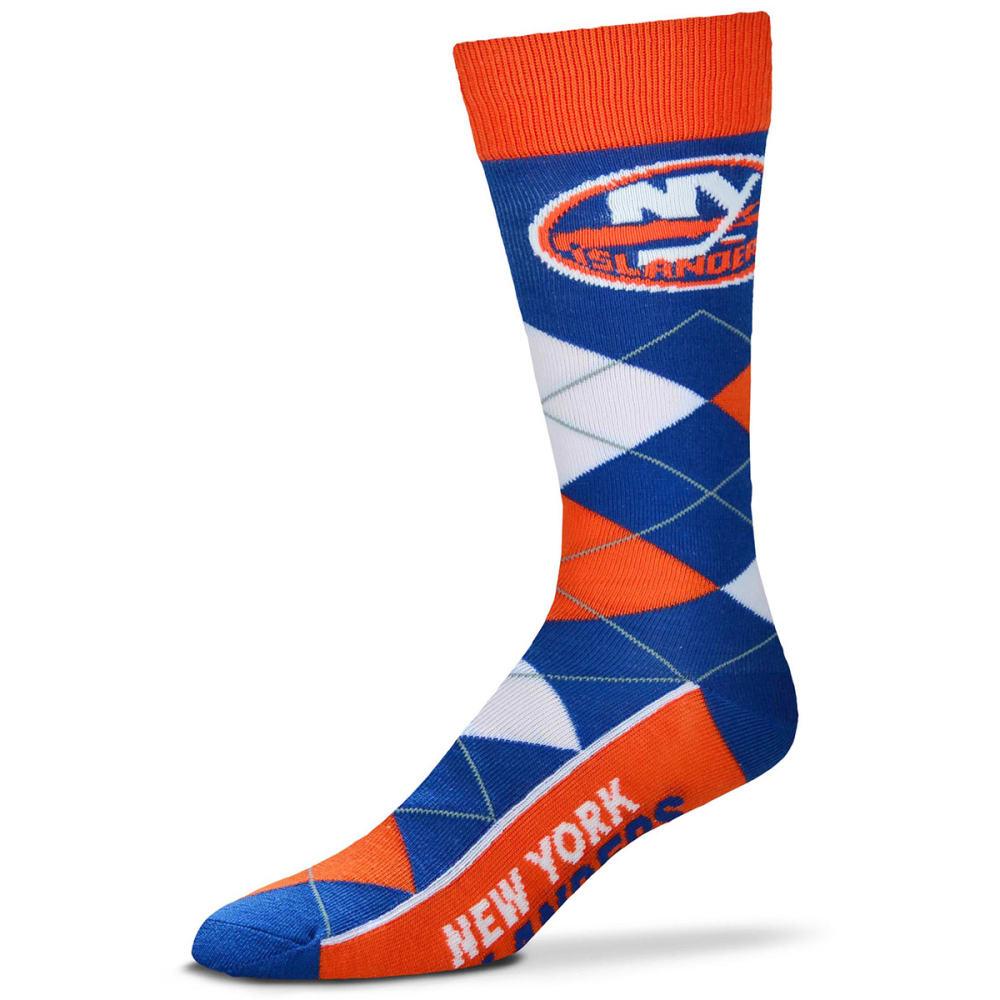 NEW YORK ISLANDERS Men's Lineup Argyle Socks - BLUE