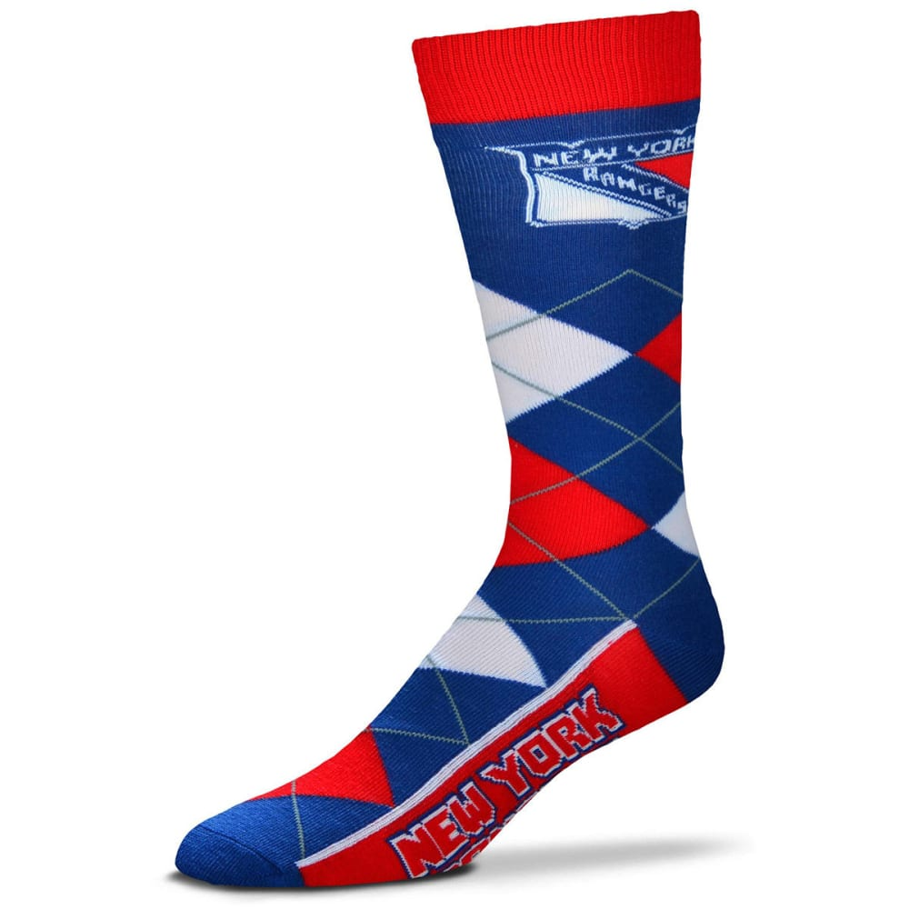NEW YORK RANGERS Men's Argyle Lineup Socks - ROYAL BLUE