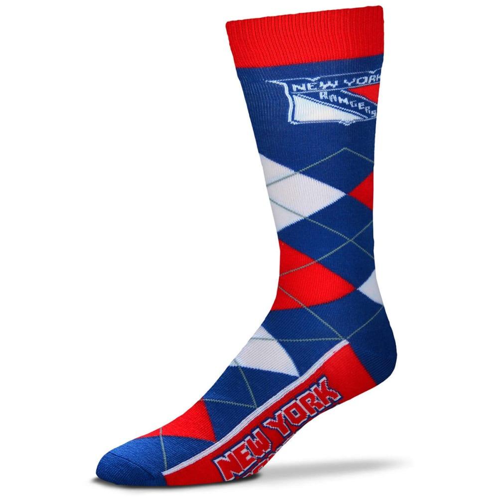 NEW YORK RANGERS Men's Argyle Lineup Socks - ROYAL BLUE