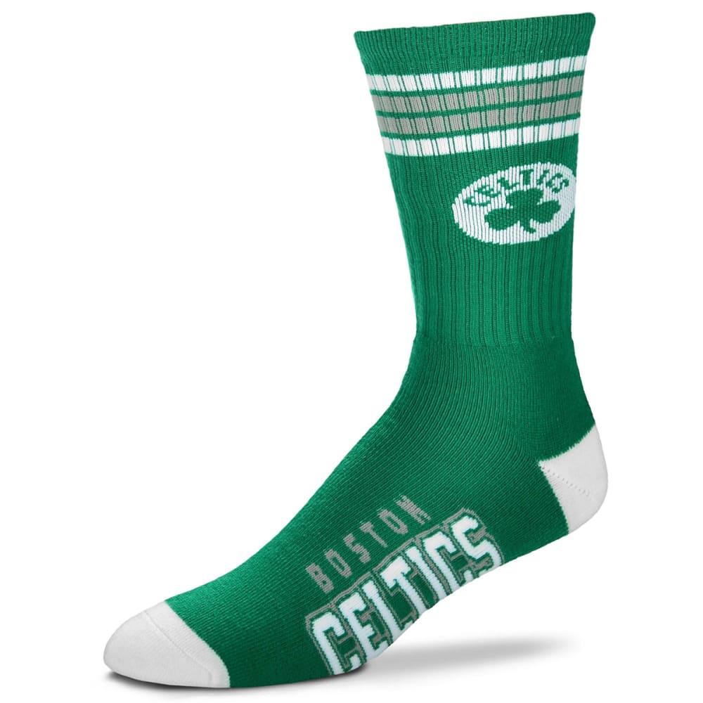 BOSTON CELTICS Men's 4 Stripe Deuce Socks - GREEN