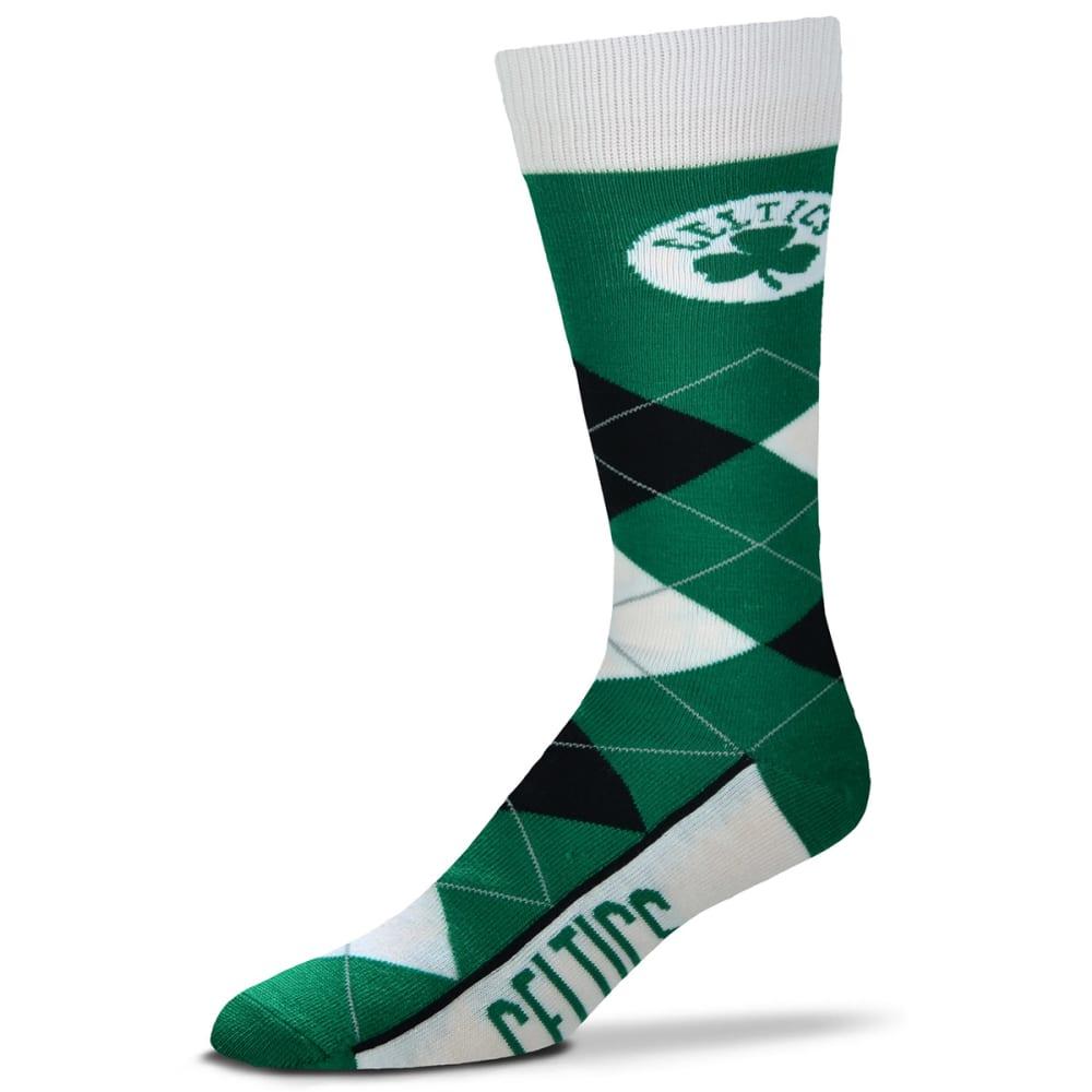 BOSTON CELTICS Argyle Lineup Crew Socks - GREEN