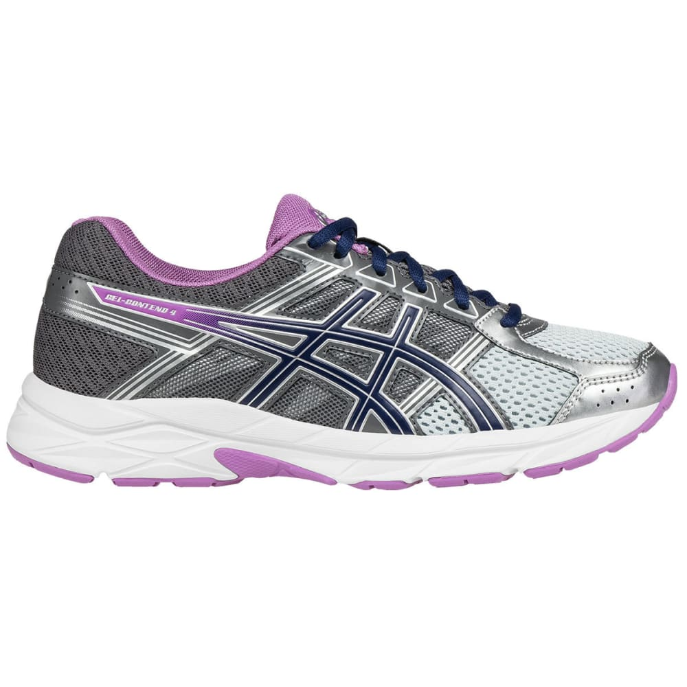 Asics Women's Gel-Contend 4 Running Shoes, Carbon, Wide - Black, 6