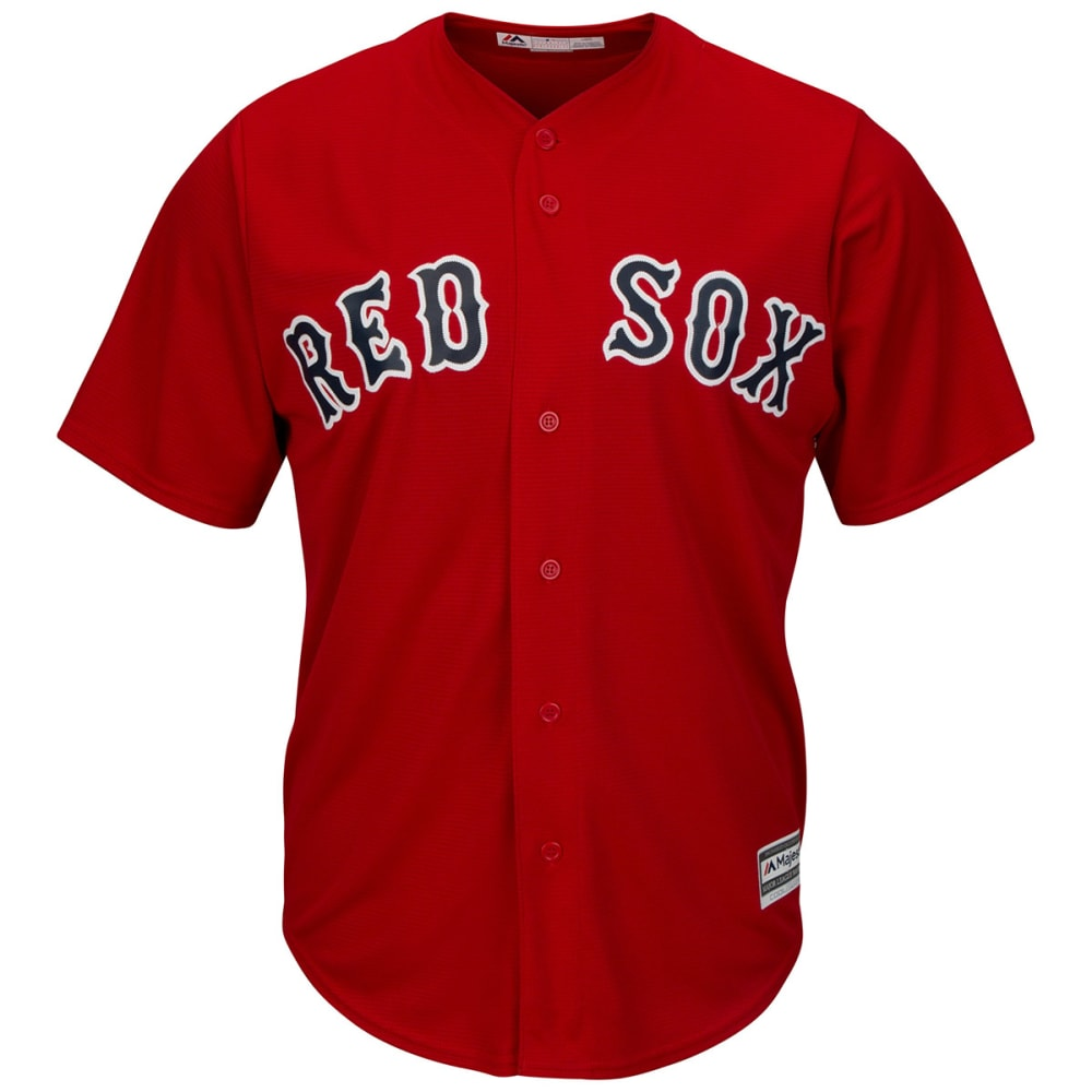 BOSTON RED SOX Men's Cool Base Alternate Jersey - SCARLET