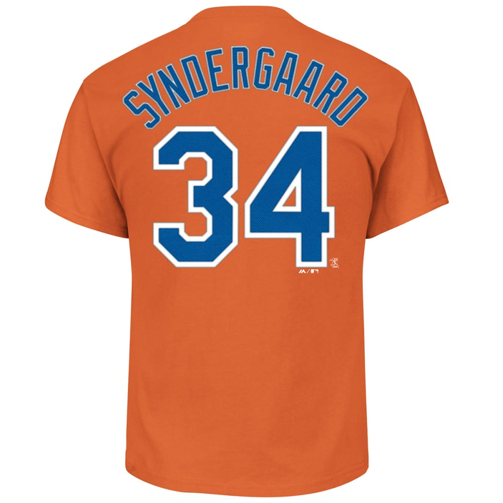 NEW YORK METS Men's Syndergaard Official Name and Number Tee - ORANGE