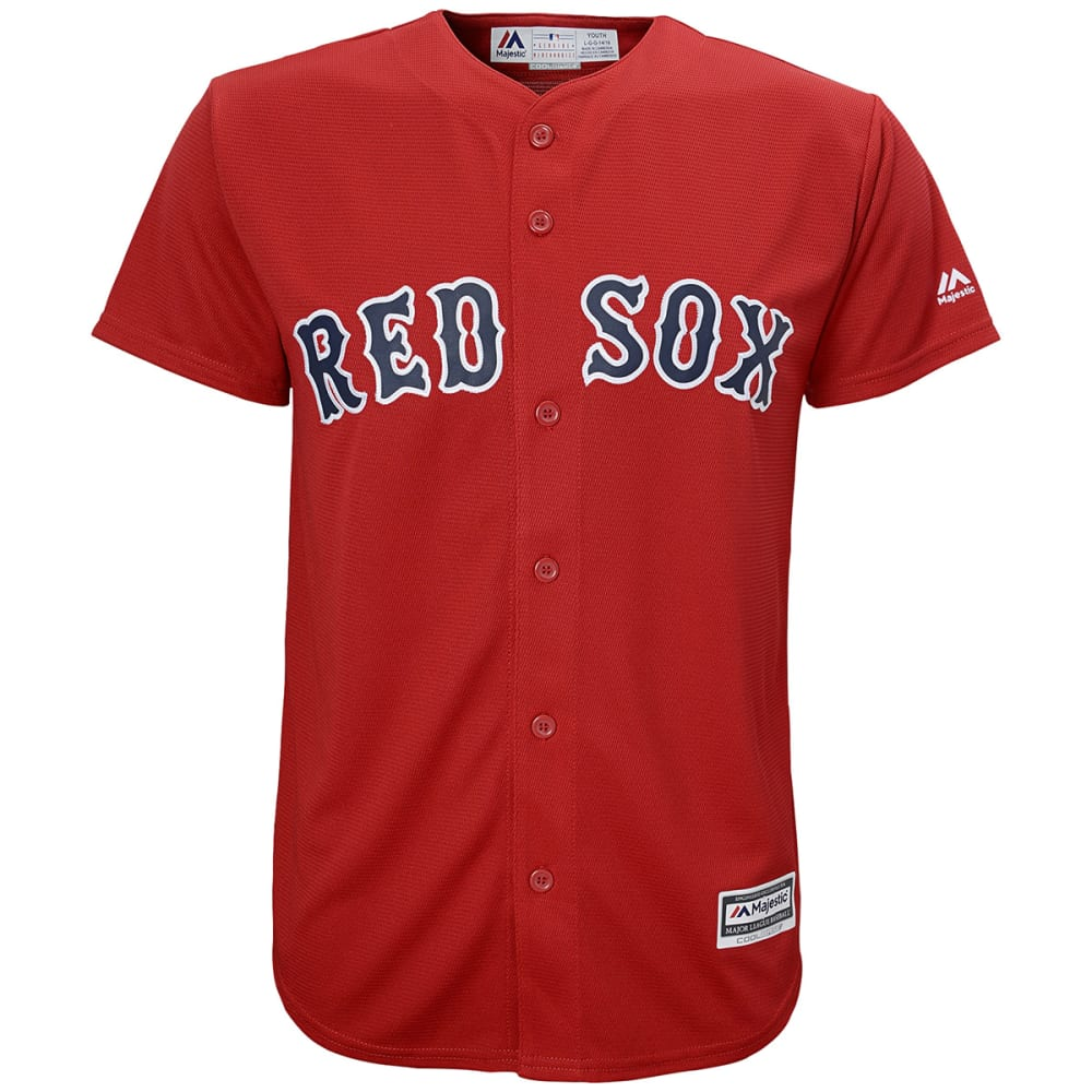 BOSTON RED SOX Boys' Cool Base Alternate Jersey S