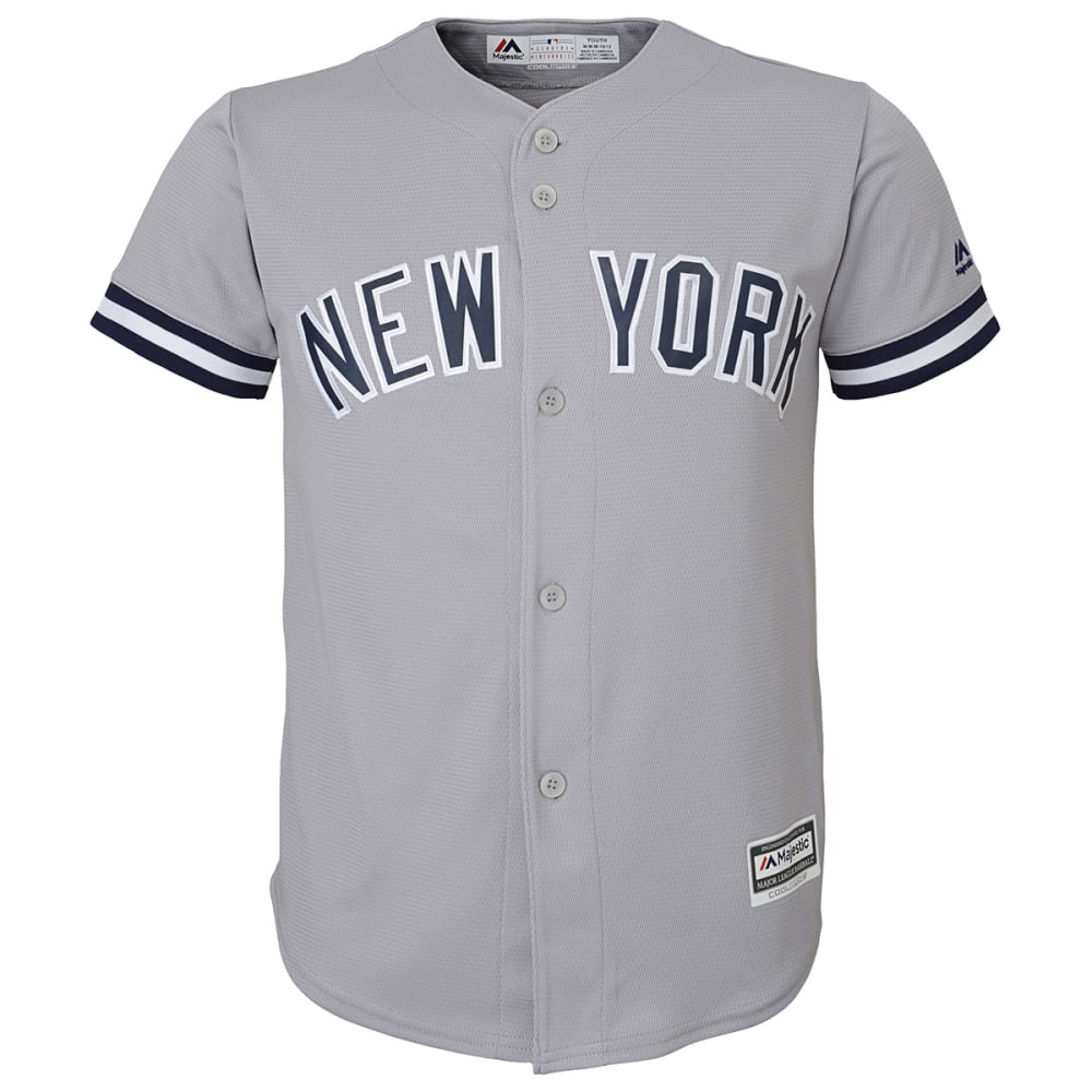 NEW YORK YANKEES Boys' Cool Base Away Jersey - GREY