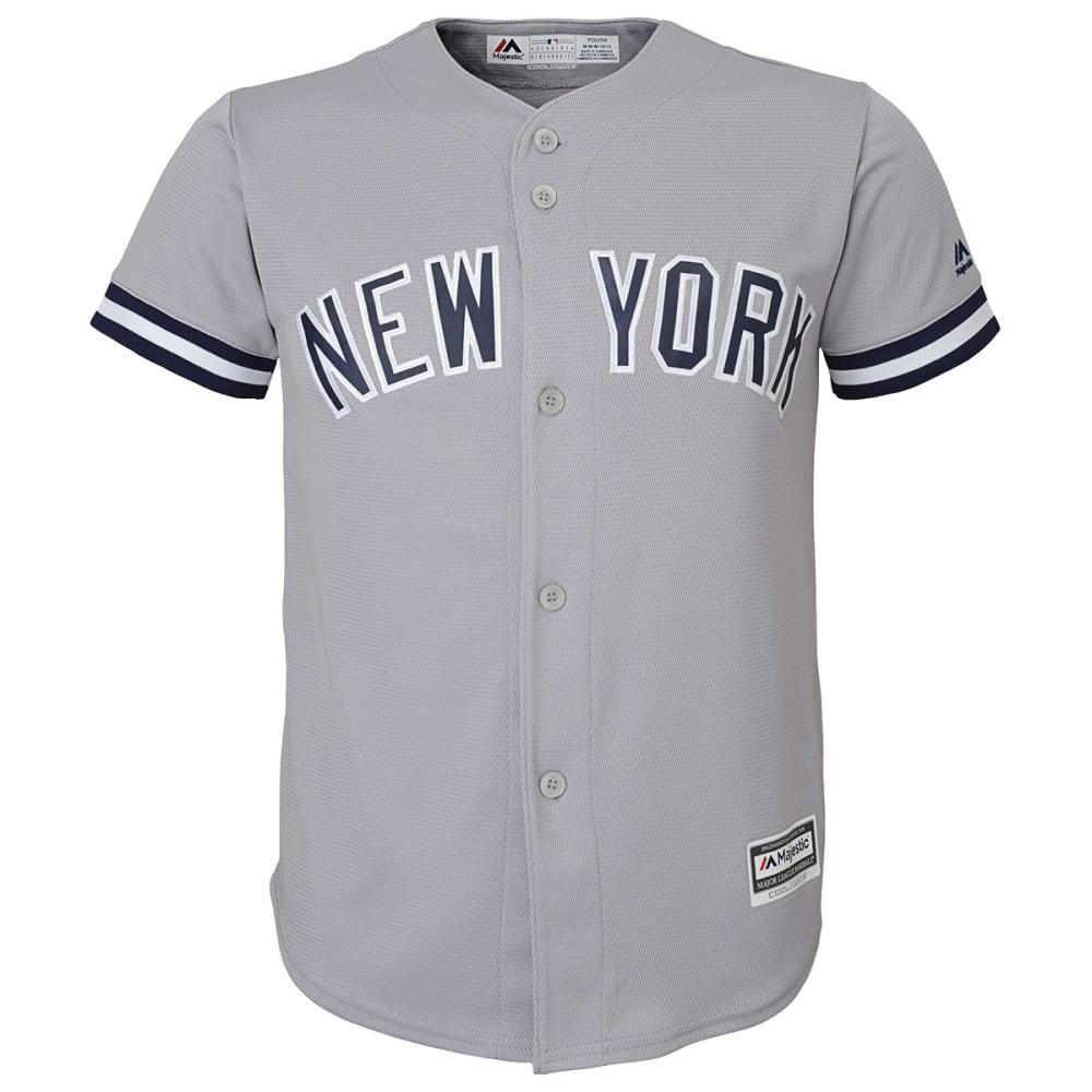 NEW YORK YANKEES Boys' Cool Base Away Jersey - GREY