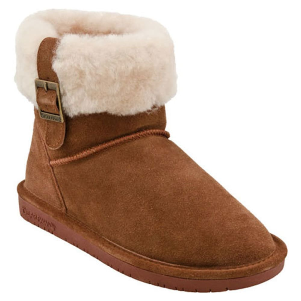 Bearpaw Women's Abby Fold-Over Boots - Brown, 6