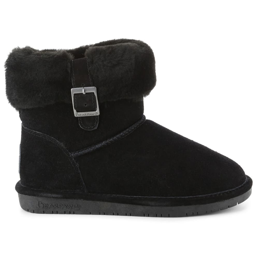BEARPAW Women's Abby Foldover Boots - BLACK