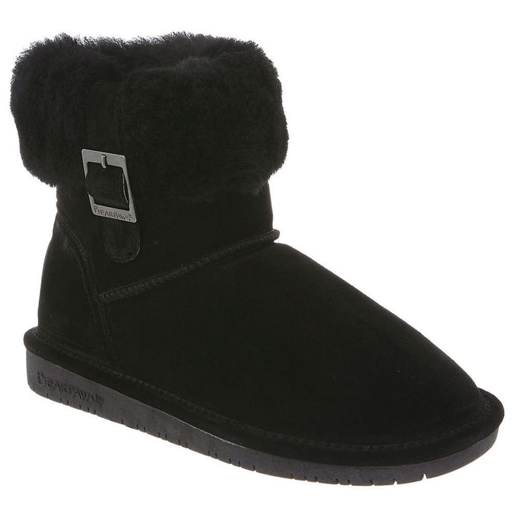 Bearpaw Women's Abby Foldover Boots - Black, 5