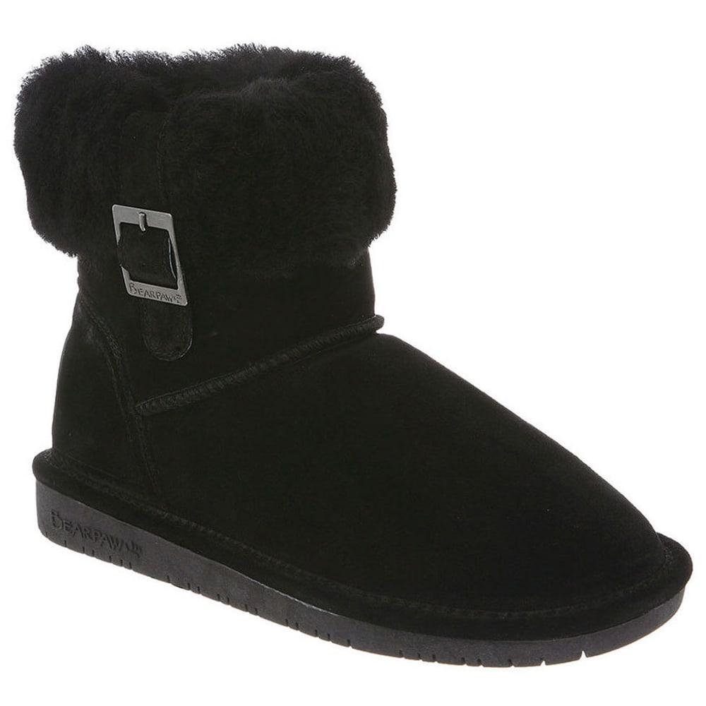 BEARPAW Women's Abby Foldover Boots - BLACK