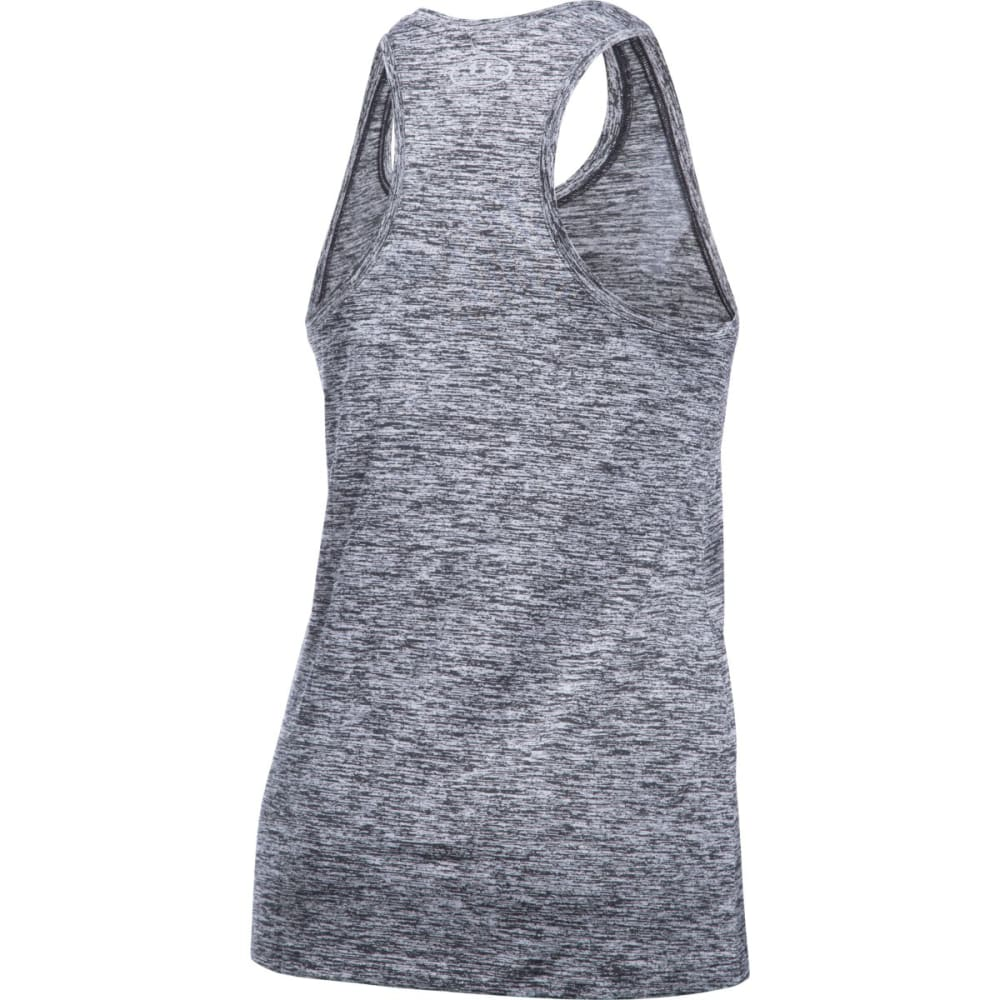 UNDER ARMOUR Women's Twist Wordmark Tech Tank Top - BLK/WHT-001