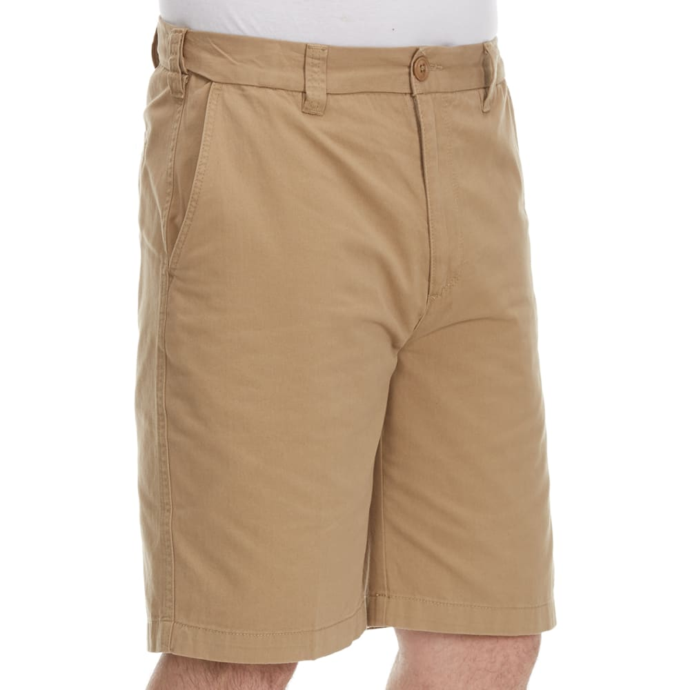 BCC Men's Extended Waist Shorts - Brown, 34