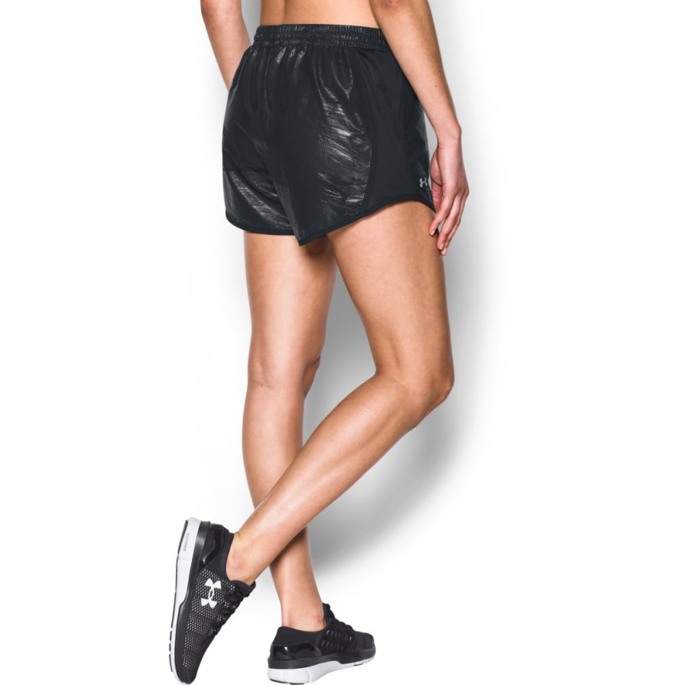 UNDER ARMOUR Women's Fly-By Perforated Running Shorts - BLACK-001