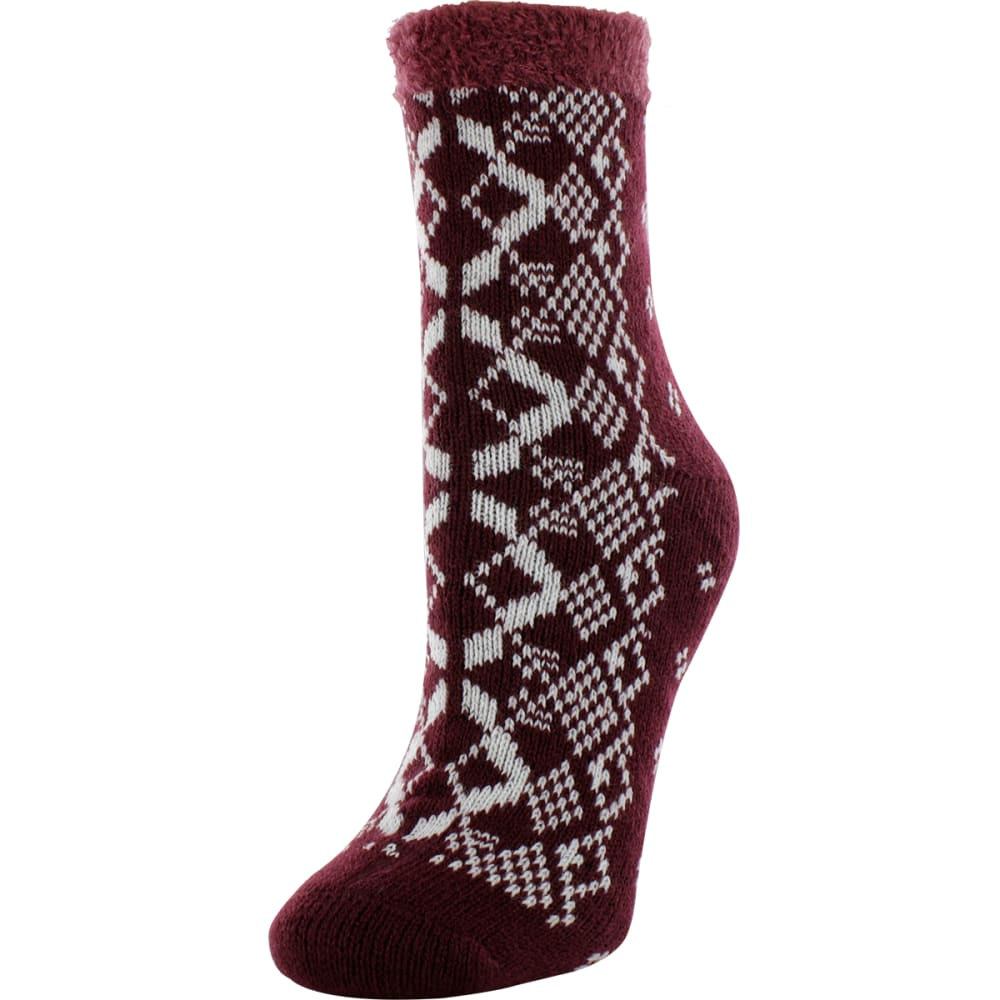 SOF SOLE Women's Fireside Indoor Socks - ZINFANDEL