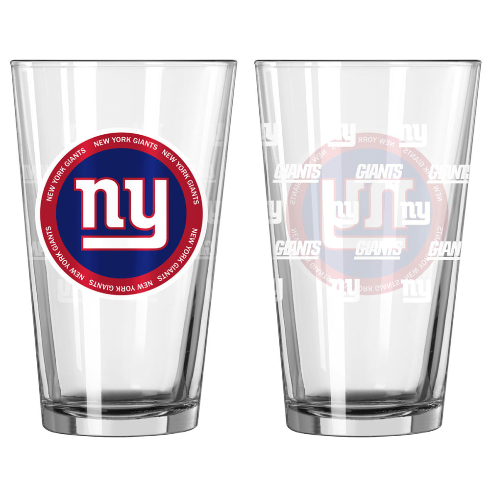 NEW YORK GIANTS 16 oz. Ring of Honor Pint Glasses, 2 Pack - GIANTS