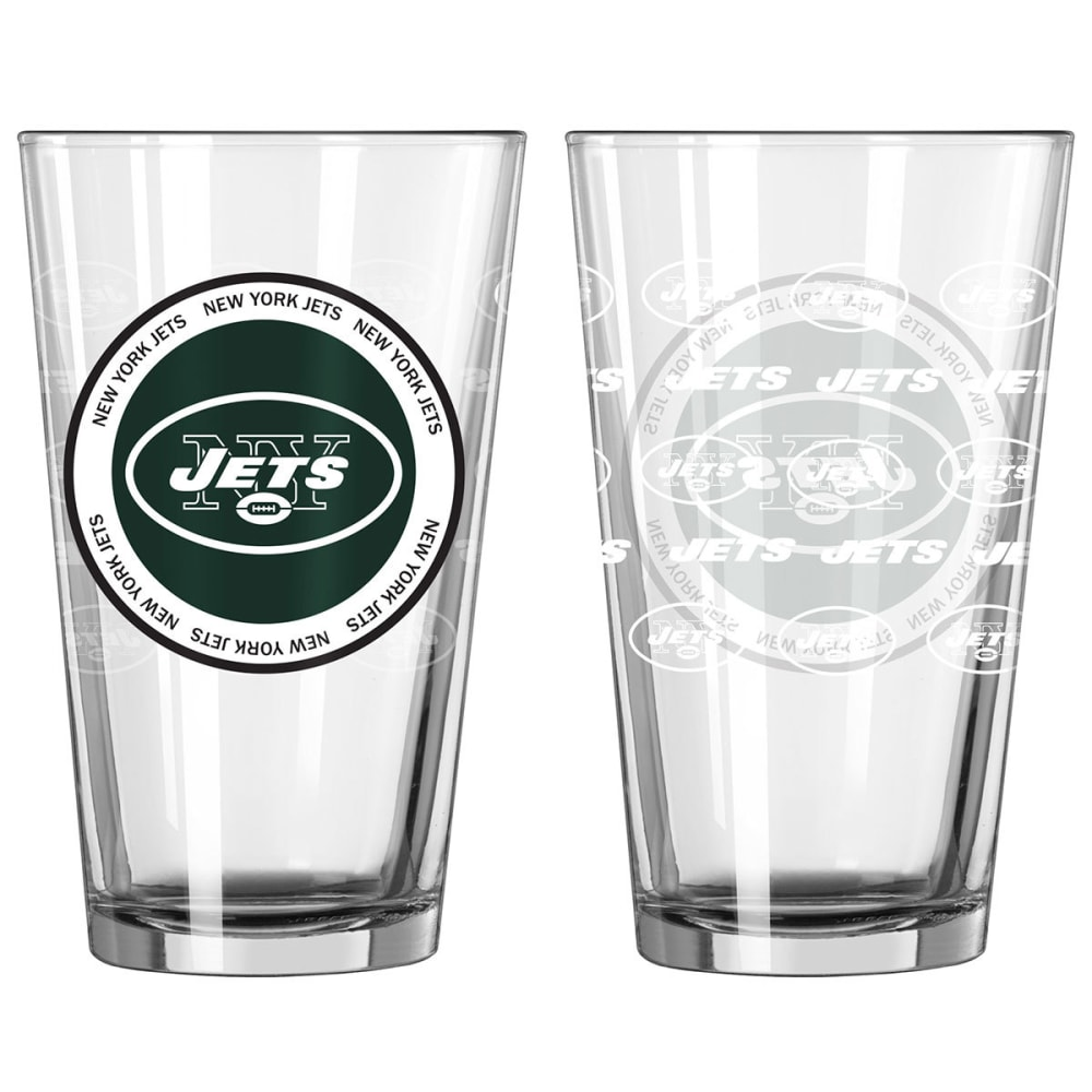NEW YORK JETS 16 oz. Ring of Honor Pint Glasses, 2 Pack - JETS