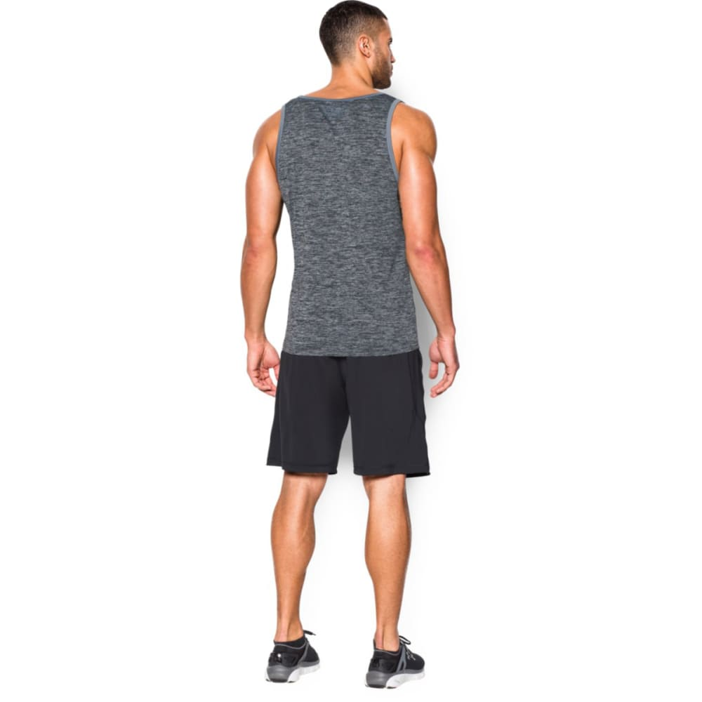 UNDER ARMOUR Men's Tech Graphic Tank Top - BLK/WHITE-001