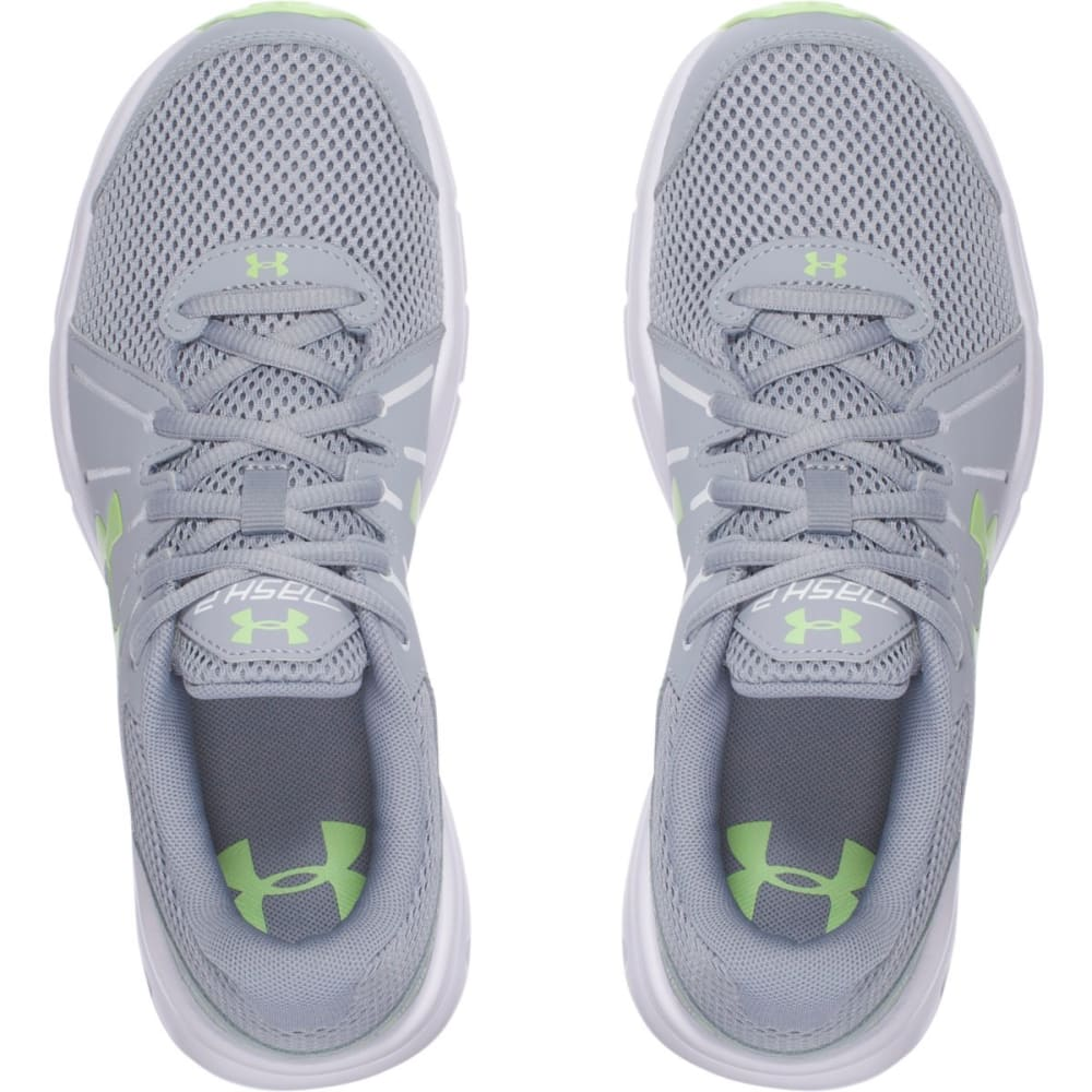 UNDER ARMOUR Women's Dash RN 2 Running Shoes, Grey/Green - GREY/GREEN