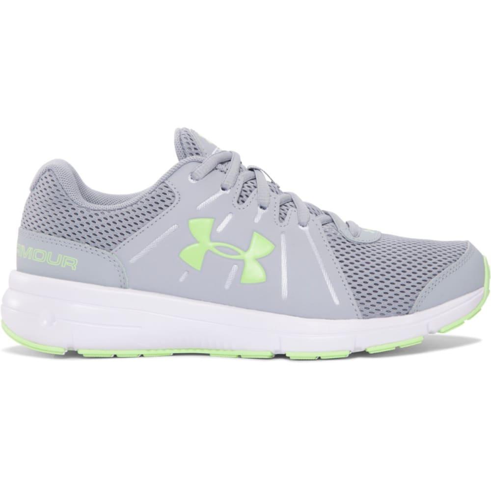 UNDER ARMOUR Women's Dash RN 2 Running Shoes, Grey/Green - GREY/GREEN