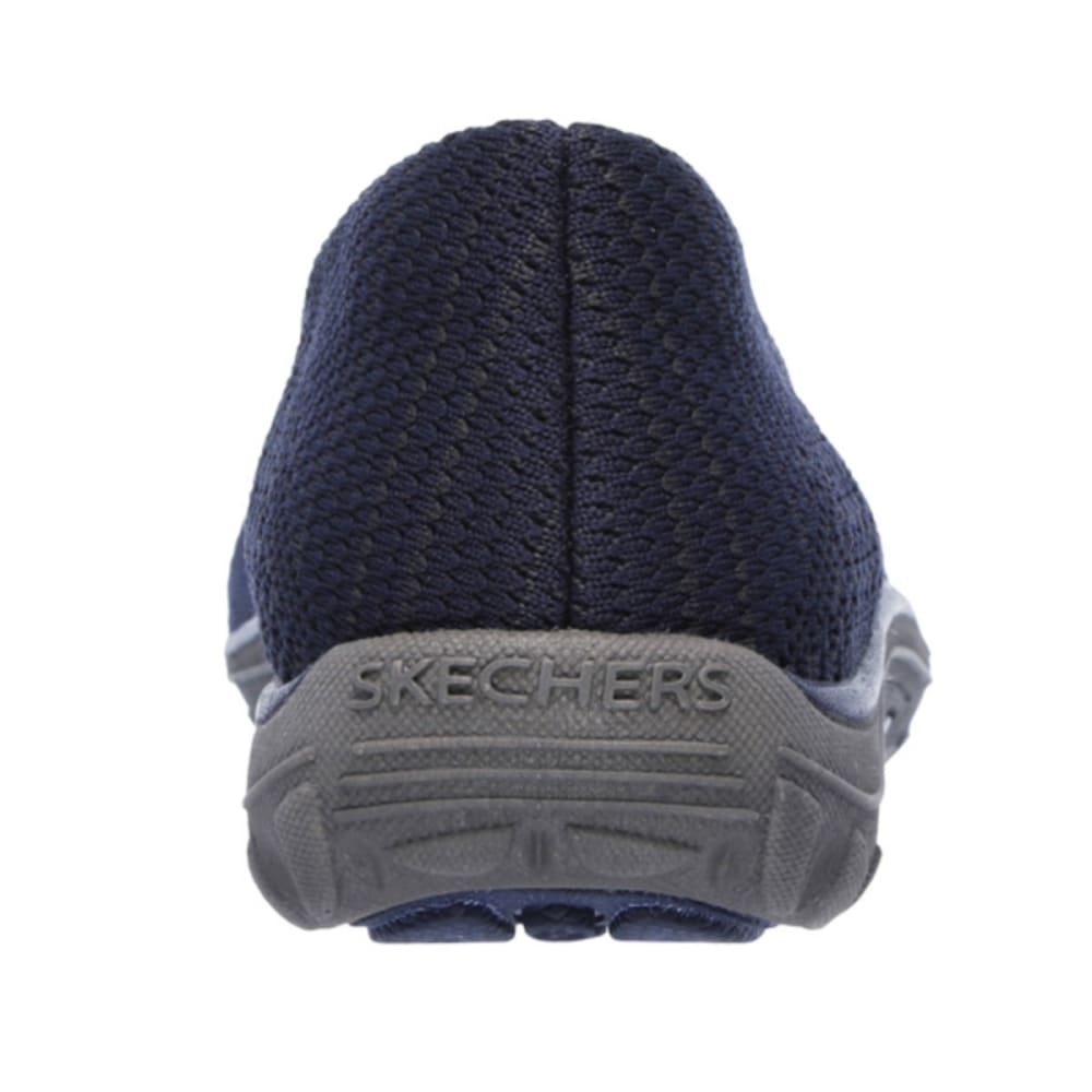 SKECHERS Women's Reggae Fest Knit Skimmer Shoes - NAVY