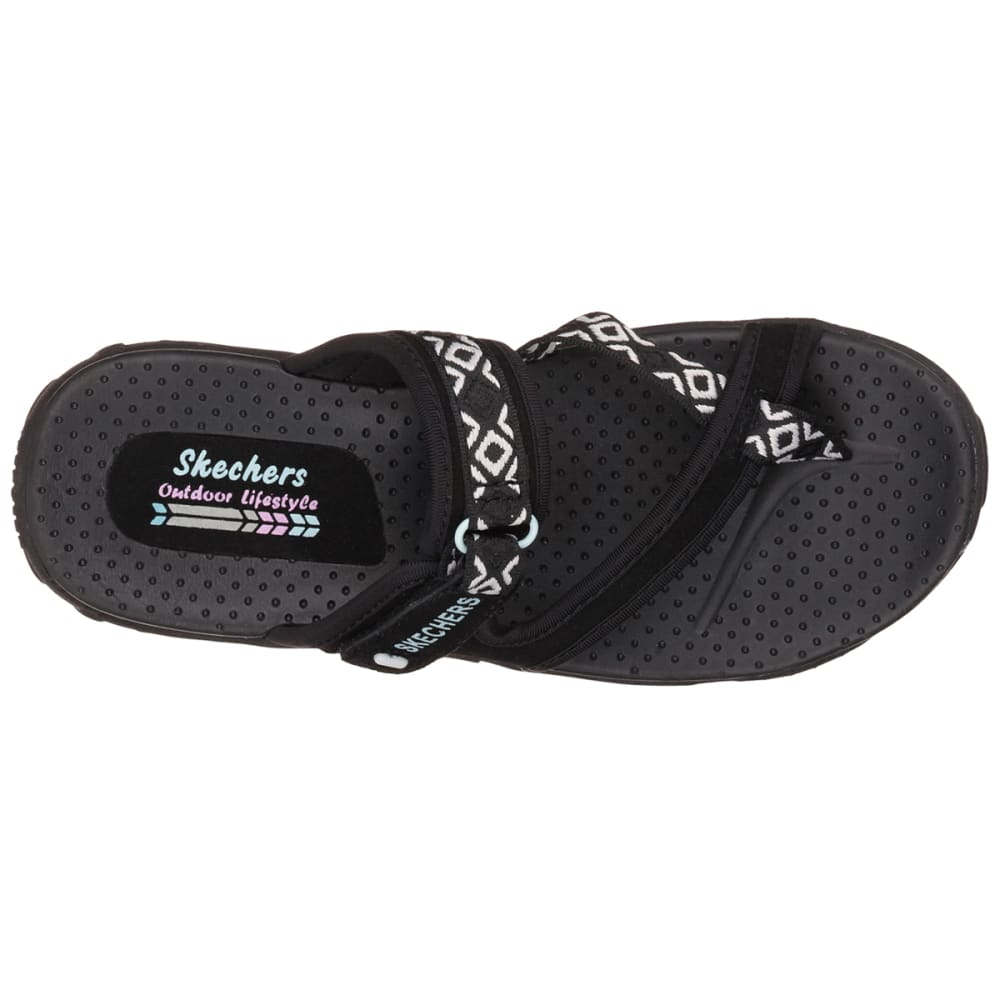 SKECHERS Women's Reggae -  Trailway Sandals, Black - BLACK