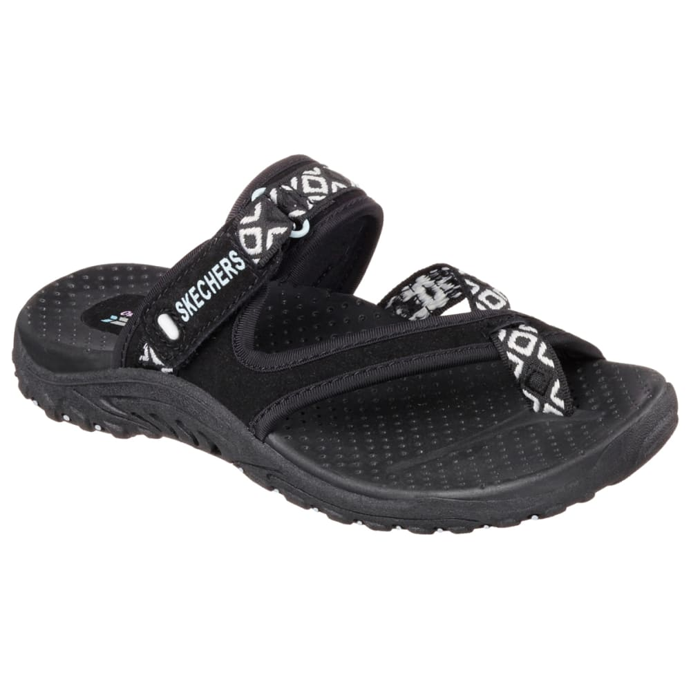 SKECHERS Women's Reggae – Trailway Sandals, Black - BLACK