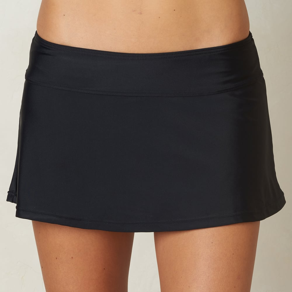 PRANA Women's Sakti Swim Skirt - BLK-BLACK