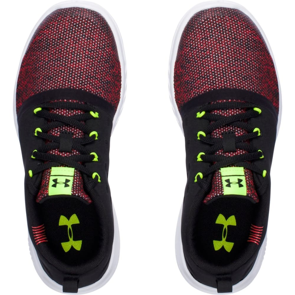 UNDER ARMOUR Boys' Grade School Charged 24/7 Low Sneakers, Black/Anthem Red - BLACK