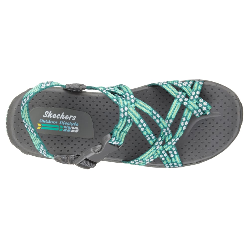 SKECHERS Women's Reggae - Loopy Sandals, Mint - MINT