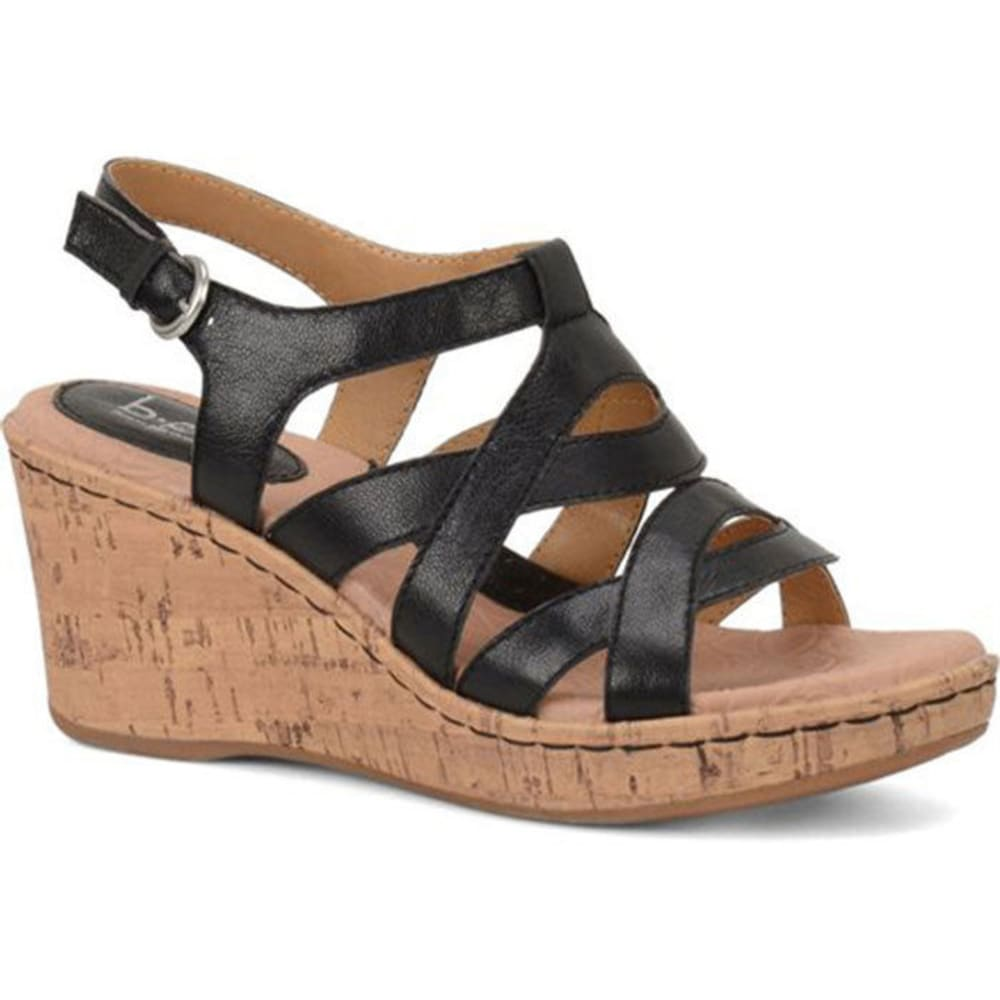 B.O.C. Women's Chyna Cork Wedge Sandals - BLACK