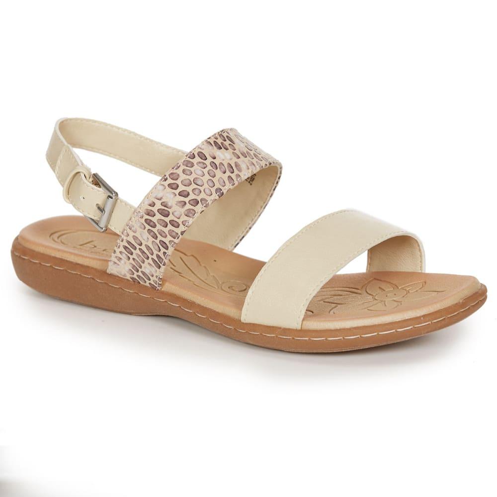 BOC Women's Boyle Slingback Sandals, Cream/Rattlesnake - CREAM/RATTLESNAKE