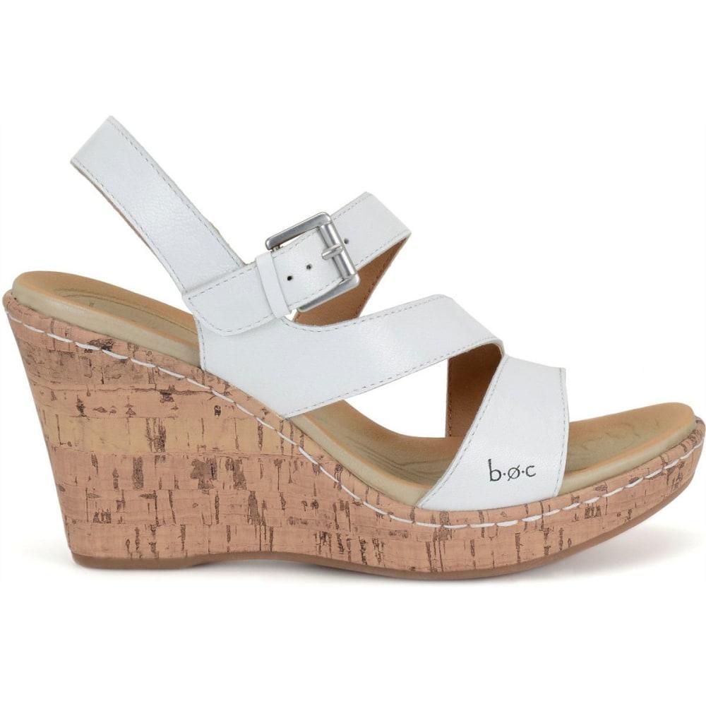BOC Women's Schirra Cork Wedge Sandals, White - WHITE