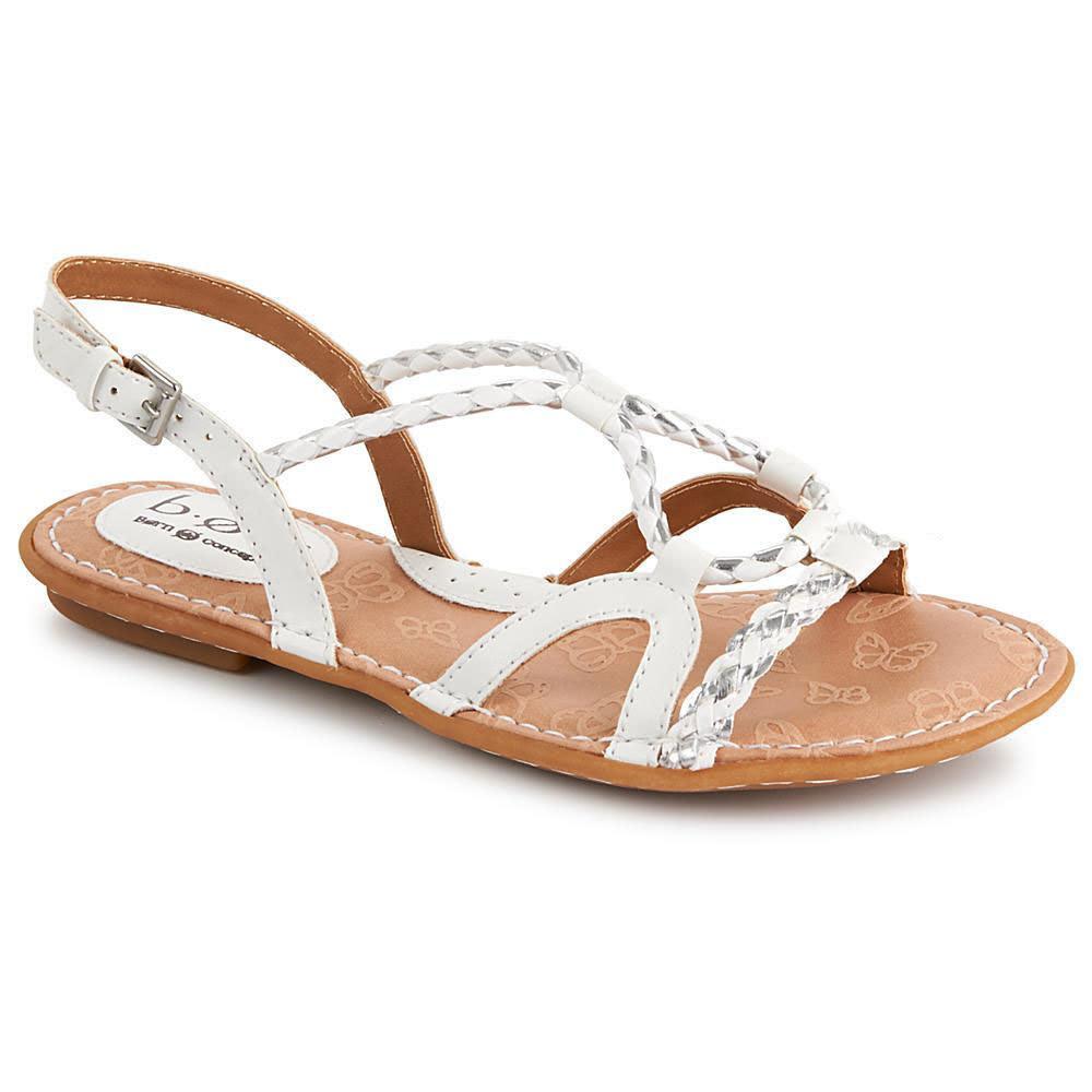 B.O.C. Women's Pandy Sandals, White/Silver - WHITE