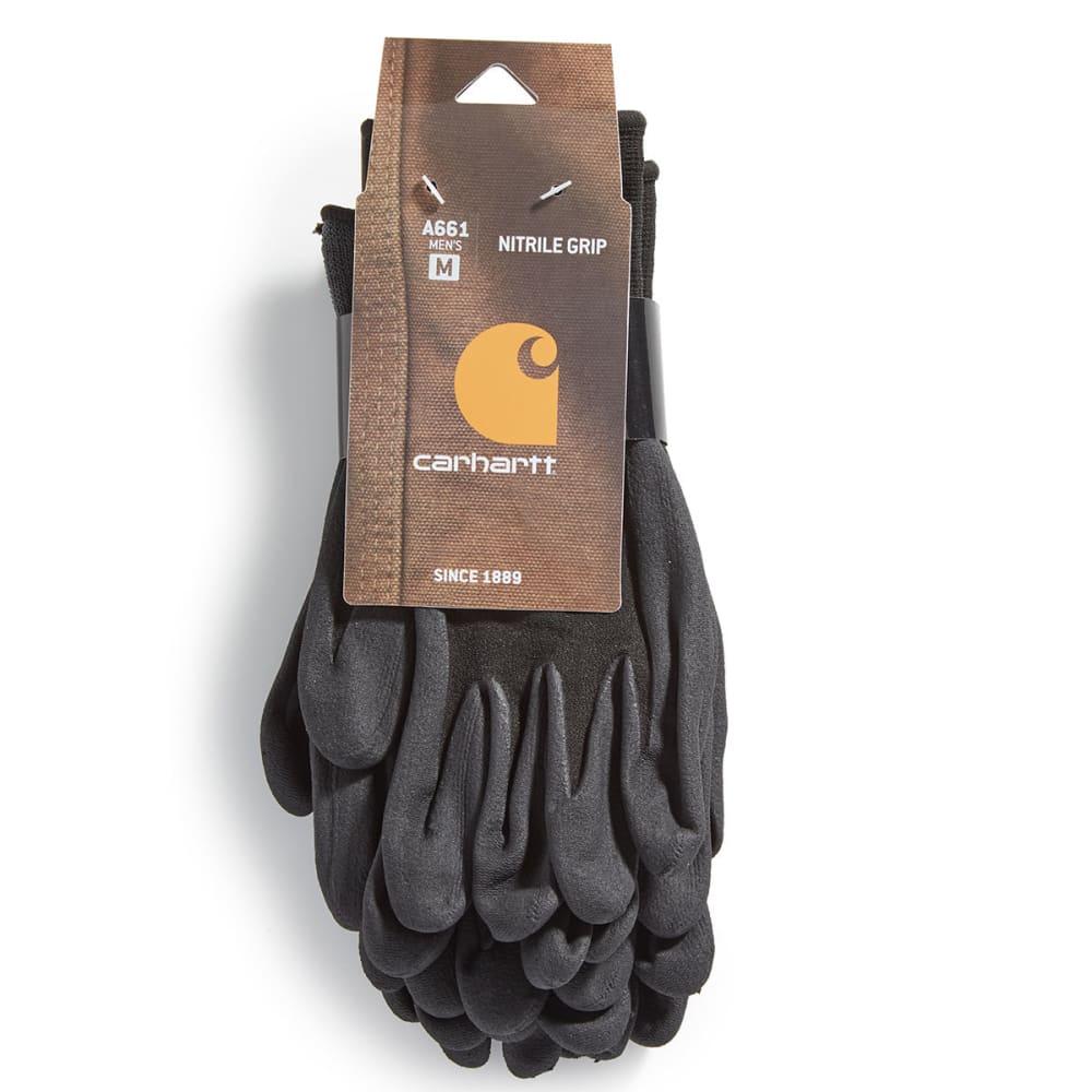 CARHARTT Men's Dipped Gloves, 3 Pack - BLACK