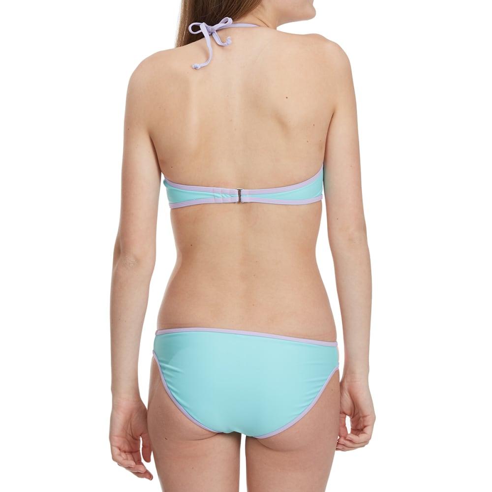 HEAT Juniors' Pastel Color-Block Bandeau Bikini Top - MINT/PNK/PURPLE
