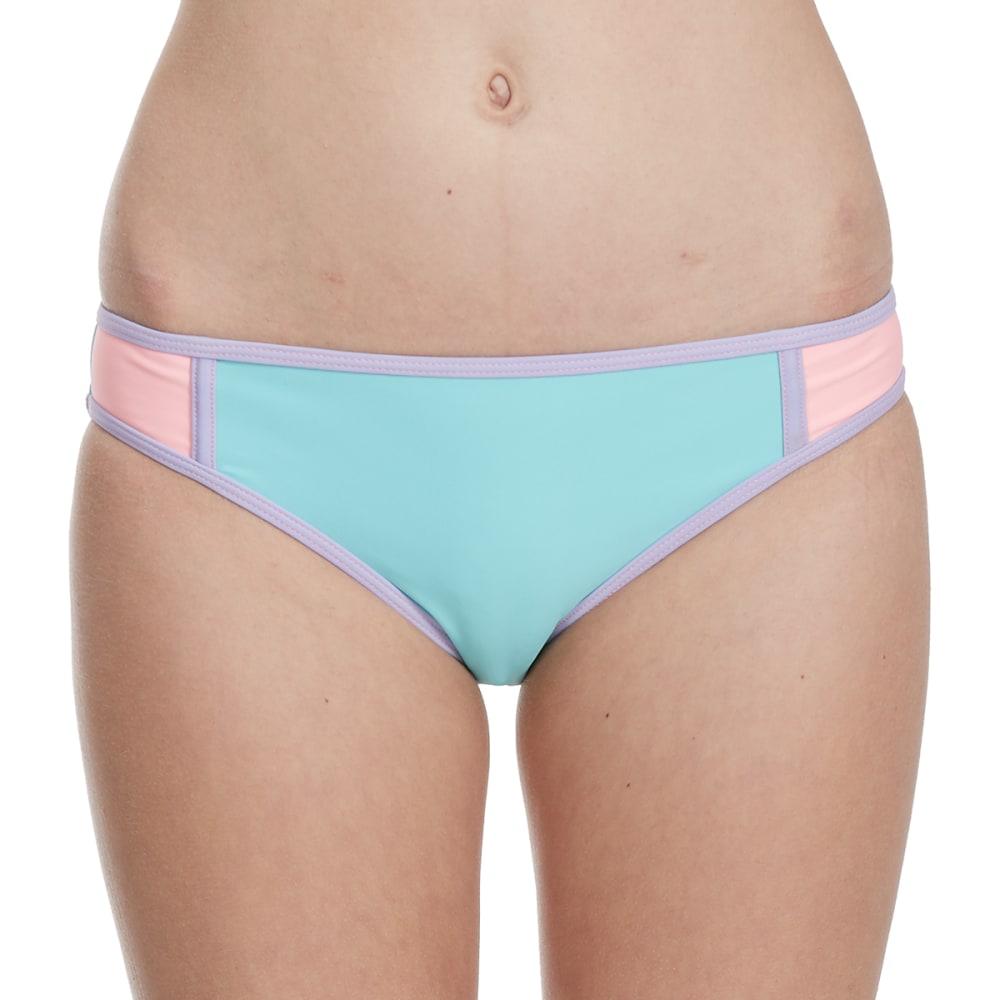 HEAT Juniors' Pastel Color-Block Bikini Bottoms S