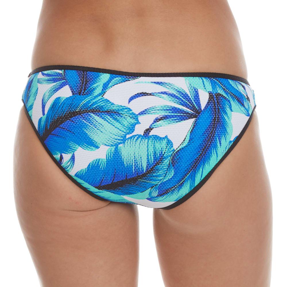 HEAT Juniors' Tropical Bikini Bottoms - ROYAL/MINT/WHT