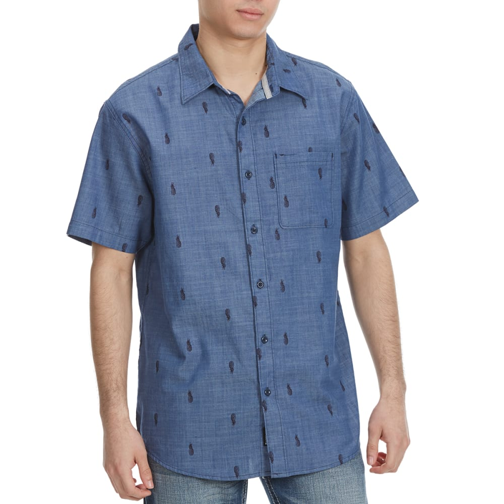 OCEAN CURRENT Guys' Express Pineapple Short-Sleeve Shirt - EVENING BLUE