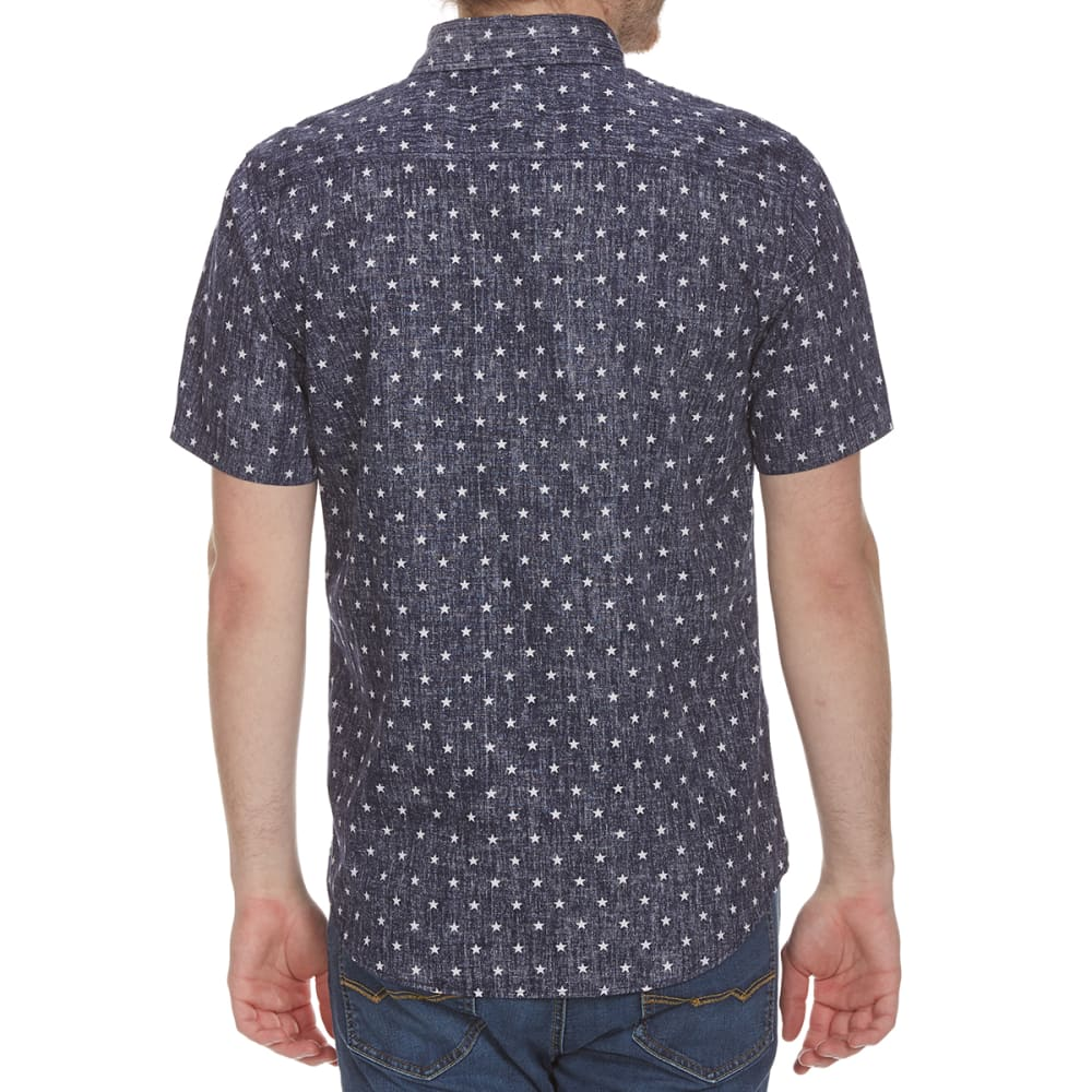 OCEAN CURRENT Guys' Starlight Woven Short-Sleeve Tee - EVENING BLUE