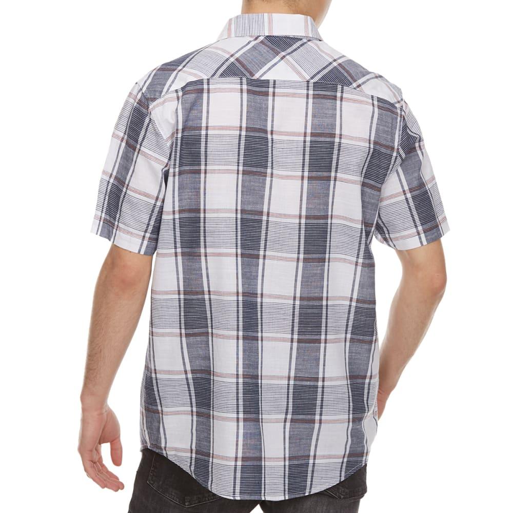 OCEAN CURRENT Guys' Akajima Plaid Woven Short-Sleeve Shirt - WHITE