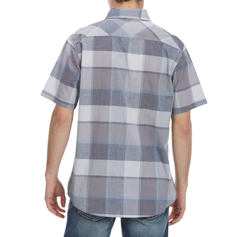 OCEAN CURRENT Guys' Funman Plaid Woven Short-Sleeve Shirt - GUN