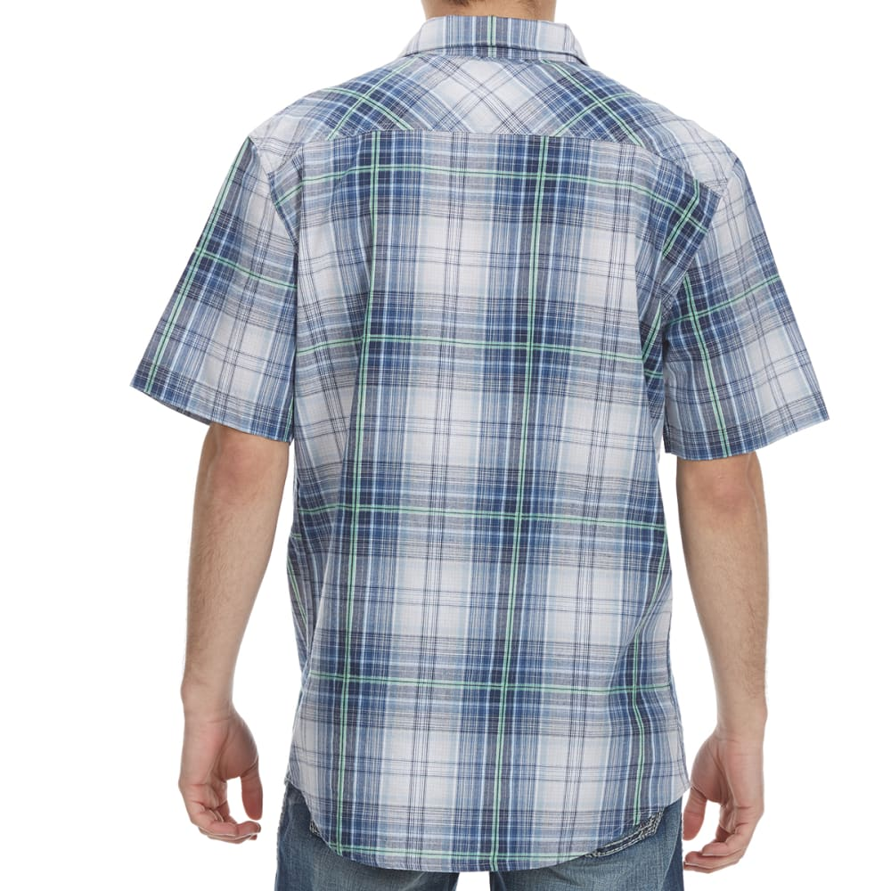 OCEAN CURRENT Guys' Harlequin Woven Short-Sleeve Shirt - INDIGO