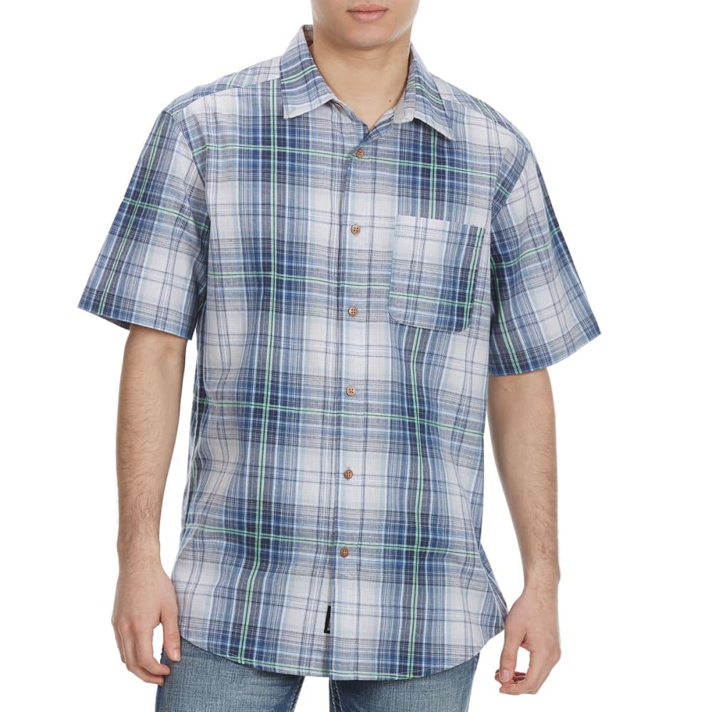 OCEAN CURRENT Guys' Harlequin Woven Short-Sleeve Shirt S